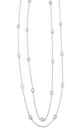 Zilveren collier met Blauwe Topaas