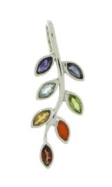 Chakra blaadjes hanger met diverse edelstenen