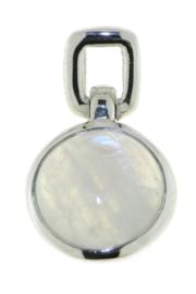 Zilveren hanger met Regenboog Maansteen