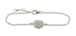 Zilveren armband met Regenboog Maansteen edelsteen