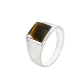 Zilveren ring met Tijgeroog edelsteen