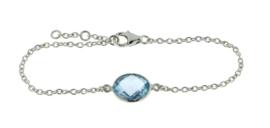 Zilveren armband met Blauwe Topaas