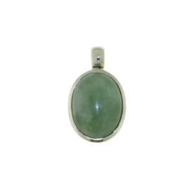 Zilveren hanger met Jade