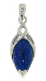 Zilveren triskel hanger met Lapis Lazuli edelsteen