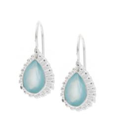 Zilveren oorhangers met Chalcedoon edelstenen