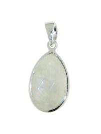 Zilveren hanger met Regenboog Maansteen edelsteen