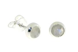 Zilveren oorknopjes met Regenboog Maansteen edelstenen