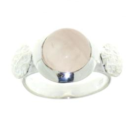 Zilveren ring met Rozenkwarts edelsteen