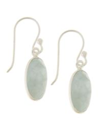 Zilveren oorhangers met  Aquamarijn edelstenen
