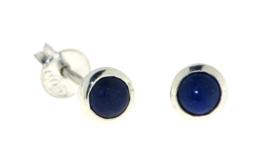 Zilveren oorknopjes met Lapis Lazuli edelstenen