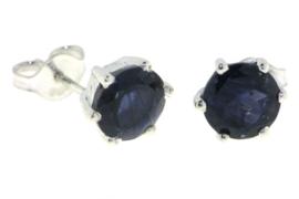 Zilveren oorstekers met Ioliet