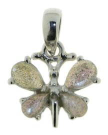 Vlinder hanger met Labradoriet