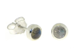 Zilveren oorknopjes met Labradoriet edelstenen