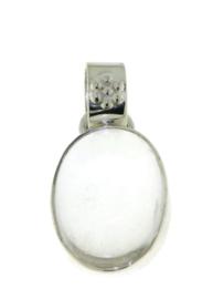Zilveren hanger met Bergkristal