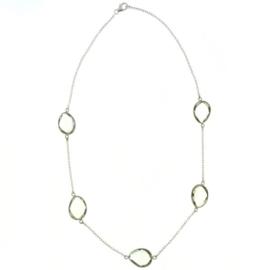 Zilveren collier met Phrasioliet edelstenen