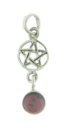 Pentagram hanger met Granaat