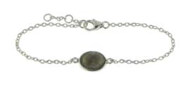 Zilveren armband met Labradoriet edelsteen