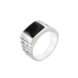 Zilveren ring met Onyx edelsteen