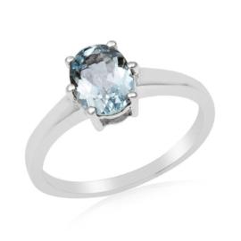 Zilveren ring met Blauwe Topaas