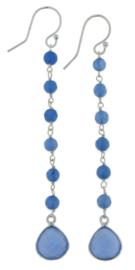 Zilveren oorhangers met Blauwe Chalcedoon