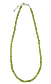 Zilveren collier met Peridoot edelstenen