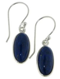 Zilveren oorhangers met Lapis Lazuli