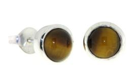Zilveren oorknopjes met Tijgeroog edelstenen