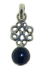 Oneindige knoop hanger met Lapis Lazuli