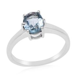 Zilveren ring met Aquamarijn edelsteen