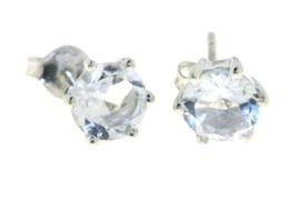 Zilveren oorstekers met Bergkristal