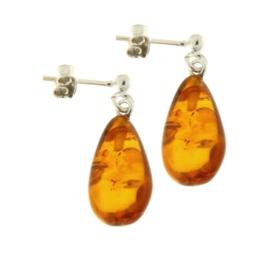 Zilveren oorstekers met Barnsteen edelstenen
