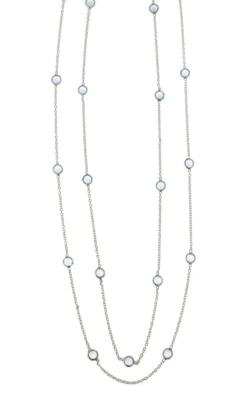 Zilveren collier met Blauwe Topaas edelstenen