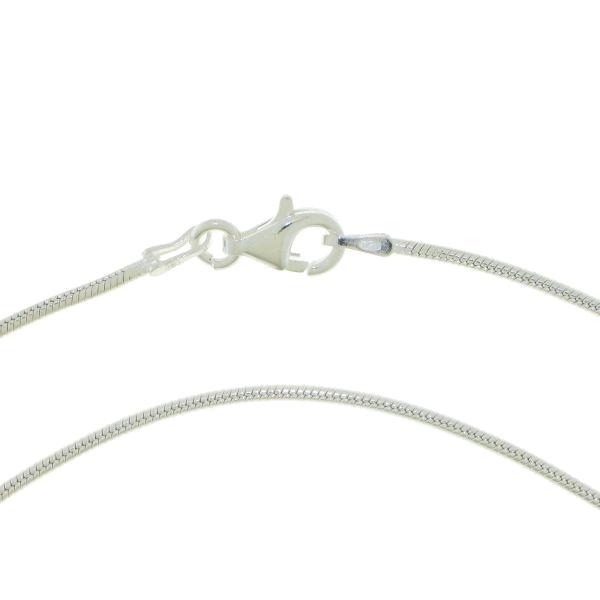 Zilveren slangen ketting dikte 1,2 mm