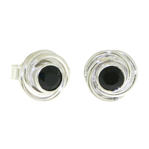 Zilveren oorknopjes met Onyx