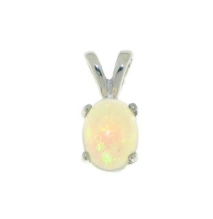 Zilveren hanger met Ethiopische Opaal edelsteen