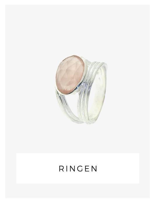 ring, rozenkwarts, zilver, handgemaakt