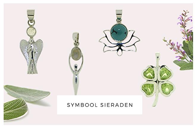 symbool sieraden, zilver, edelsteen