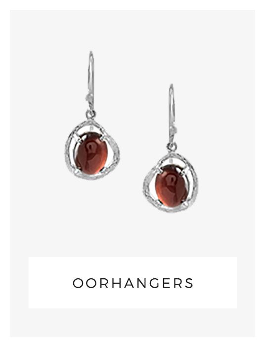 oorhangers, granaat, handgemaakte sieraden, ambachtelijk, zilver
