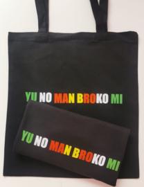 Ladiesfit T-shirt YU NO MAN BROKO MI