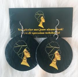 Oorbellen Headwrap Queen
