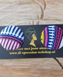 African print oorstekers