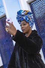 African print hoofddoek