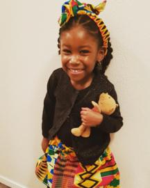 African print, setje rok en haarband