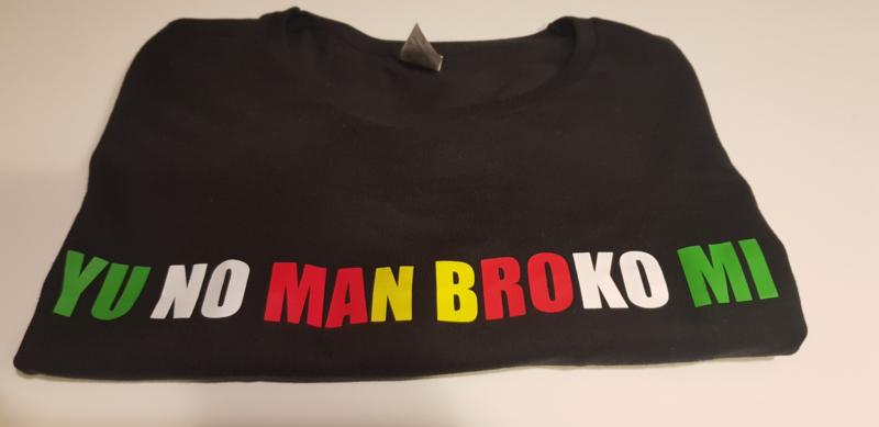 Kinder T-shirt YU NO MAN BROKO MI