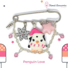 Penguin Love - Broche