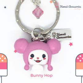 Bunny Hop Pompon - Kawaii bagchain / kawaii keychain