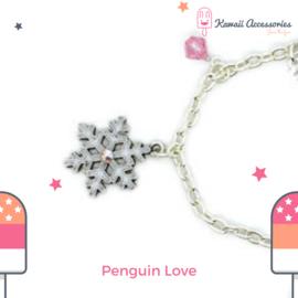 Penguin Love Charm - Kawaii bracelet