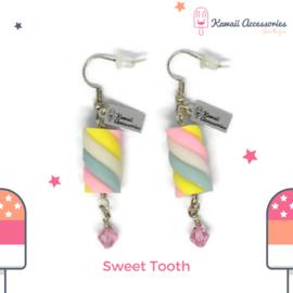 Sweet Tooth Marshmallow - Kawaii oorbellen