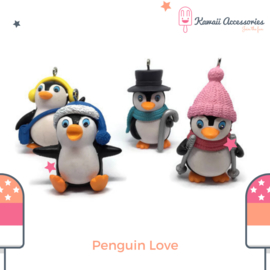 Penguin Love  Pompon - Kawaii tashanger / sleutelhanger
