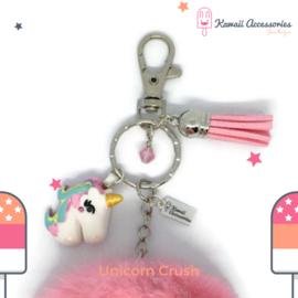 Unicorn Crush Pompon - Kawaii tashanger / kawaii sleutelhanger